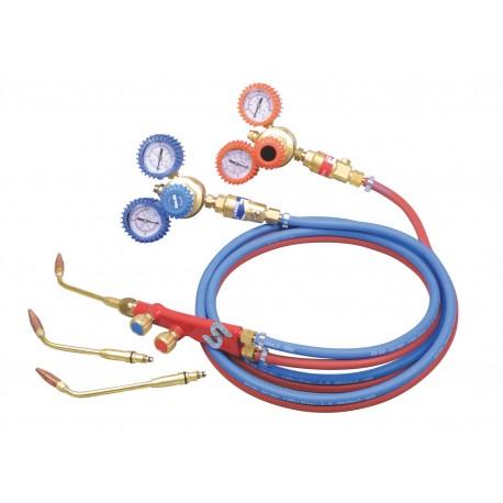 kit riduttori pressione acetilene e ossigeno