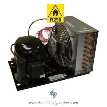 unità condensatrice ad aria compressore nek2150u a capillare