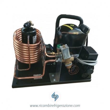 Unità condensatrice ad acqua compressore EMT6165GK a valvola